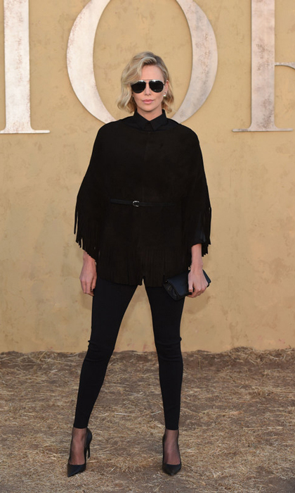 Charlize Theron was a woman in black at the Dior Cruise 2018 Show in Calabasas, California.