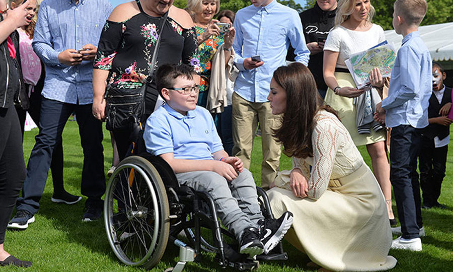 Kate took the time to meet guests one on one during the outdoor event.