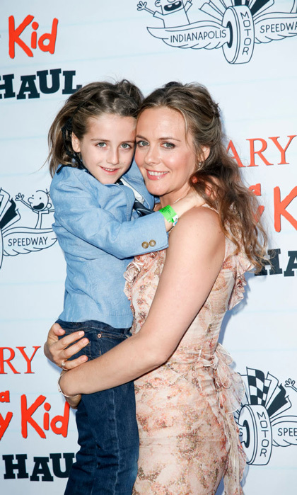 Alicia Silverstone had the cutest date, her son Bear Blu Jarecki, to the <i>Diary of a Wimpy Kid The Long Haul</i> at the Indianapolis Motor Speedway in May 2017. Bear just turned five on May 5 and looks just like his mom with those baby blue eyes.