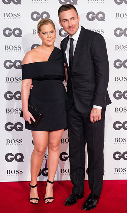 <b>Amy Schumer and Ben Hanisch</B>