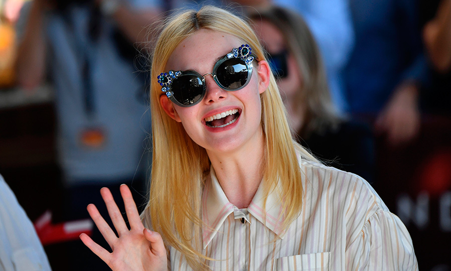 Well, hello there Elle Fanning! The actress was spotted in oversized sunglasses at the Grand Hyatt Cannes Hotel Martinez on the eve of the opening ceremony of the 70th edition of the Cannes Film Festival.