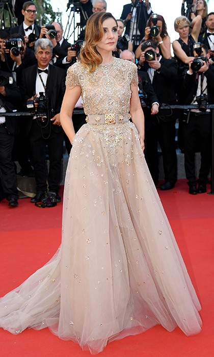 Real life princess and actress Clotilde Coureau dazzled in an embellished nude gown at the opening night premiere of <I>Ismael's Ghosts (Les Fantomes d'Ismael)</I> at Cannes.