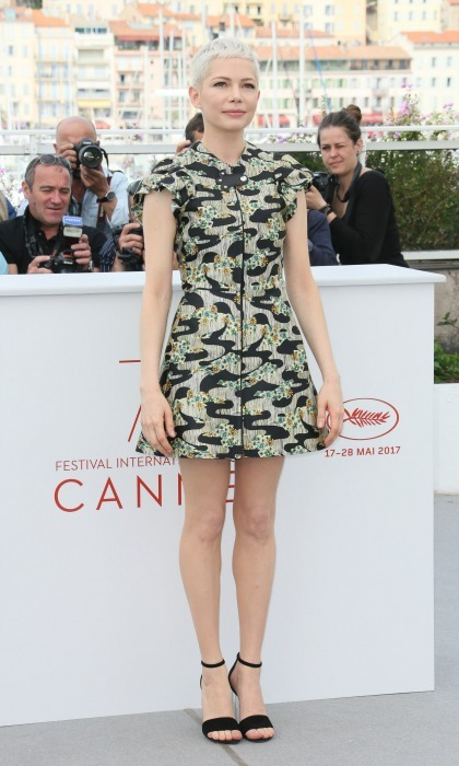 Michelle Williams stunned in a mini dress by Louis Vuitton during the Wonderstruck photocall.