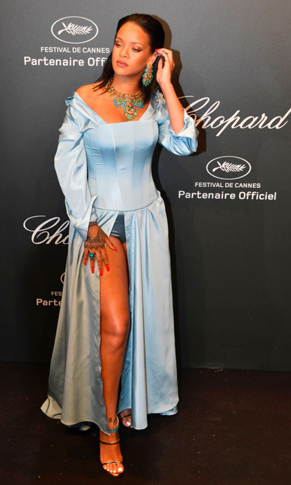 Rihanna shined bright in Chopard for their annual Cannes party.