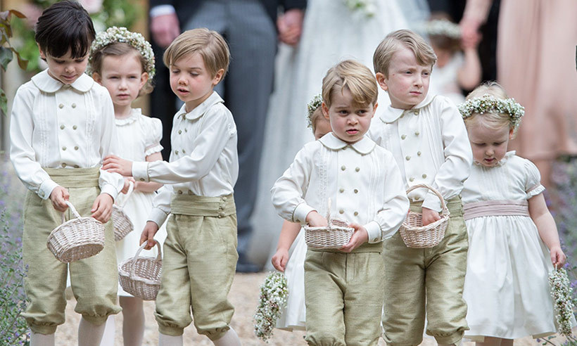 "May 2017: Prince George was front and center at his aunt Pippa's wedding on May 20. The three-year-old was ""well-behaved"" according to wedding guests as he completed his pageboy duty.
