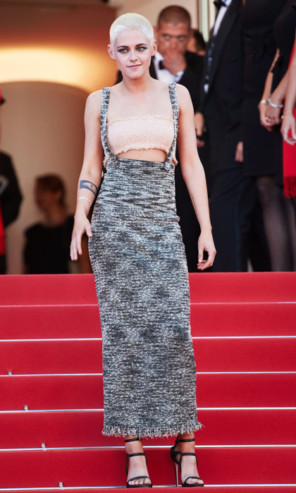 Kristen Stewart wore a Chanel tweed dress to the <i>120 Beats Per Minute</i> screening.