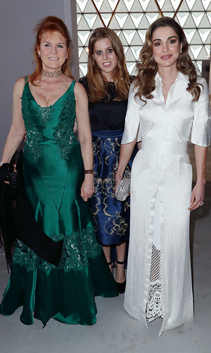Sarah Ferguson, Princess Beatrice and Queen Rania were guests of honor at a fashion show and auction for Diesel's Child At Heart collection, a collaboration with Fashion For Relief charity.