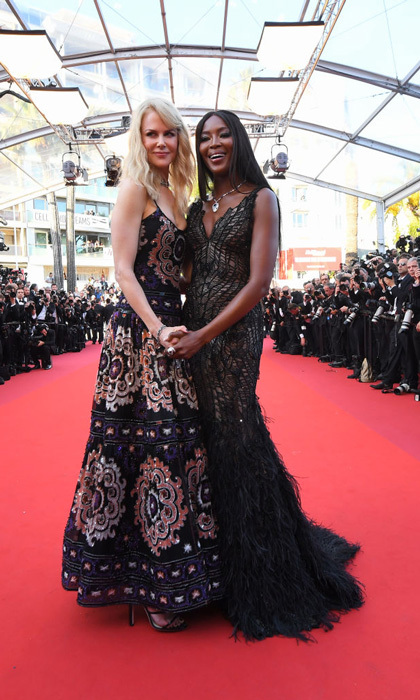 Nicole Kidman and Naomi Campbell, who turned 47 the day before, were a couple of beauties on the 70th anniversary celebration carpet.
