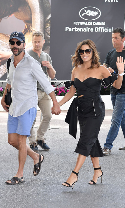 Eva Longoria and her husband enjoyed their day in Cannes together prior to attending the anniversary celebration.
