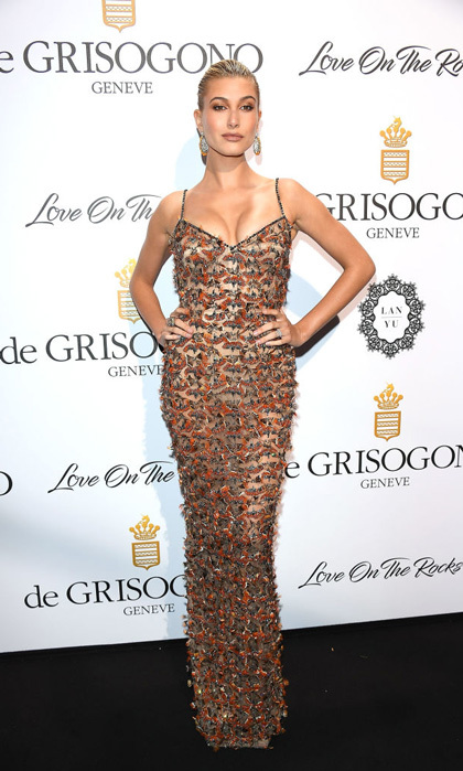 Hailey Baldwin went ultra glam for the De Grisogono party in Cap d'Antibes.