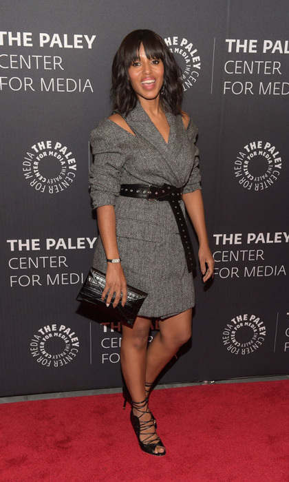 Kerry Washington brought out her best Olivia Pope for the season finale of <i>Scandal</i> at the Paley Center for Media.