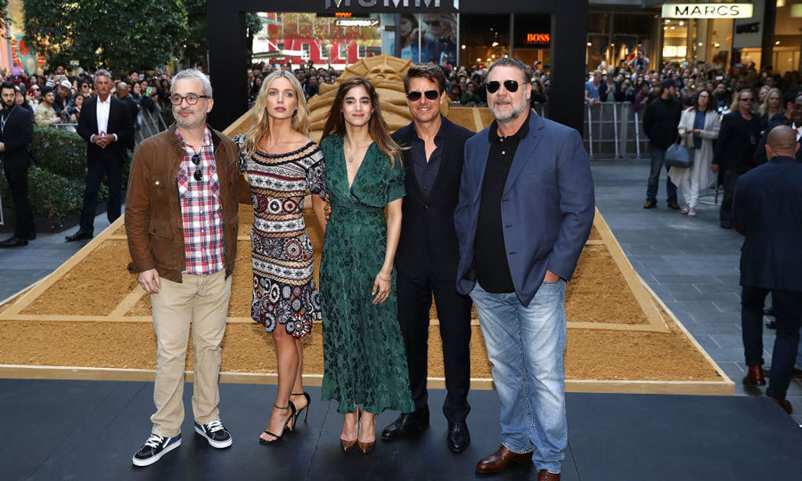 Director Alex Kurtzman, Annabelle Wallis, Sofia Boutella, Tom Cruise and Russell Crowe brought <i>The Mummy</i> to Sydney, Australia. The day prior, the cast had their premiere at QT Sydney's State Theatre.