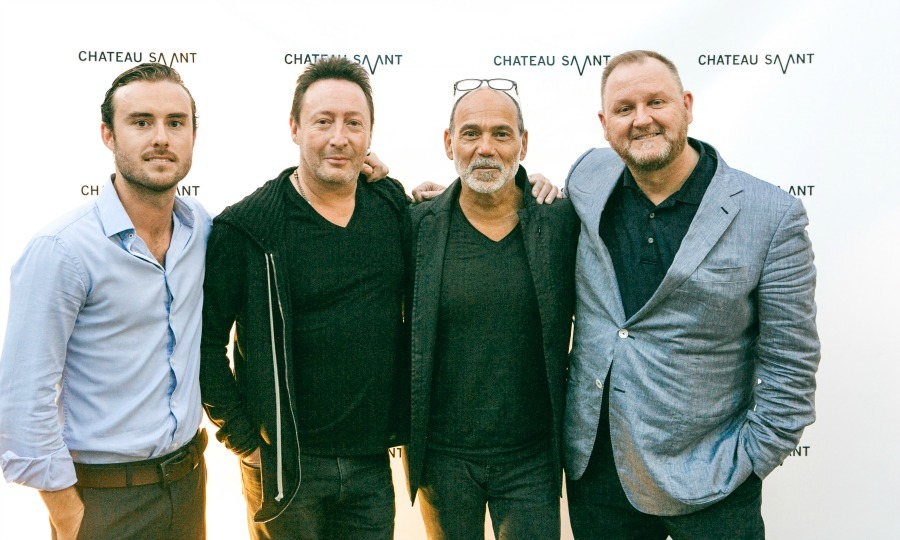 Party time! Timothy White and Julian Lennon hosted a soirée benefiting amfAR at the Chateau Savant. 