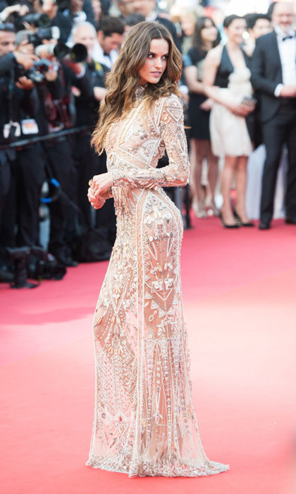 Izabel Goulart left little to the imagination in this sheer Roberto Cavalli gown at <i>The Beguiled</i> premiere.