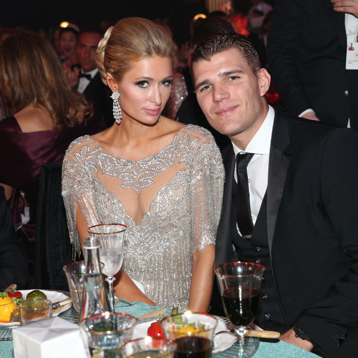 Paris Hilton and Chris Zylka's date night was extra lux at the amfAR Gala in Cannes.