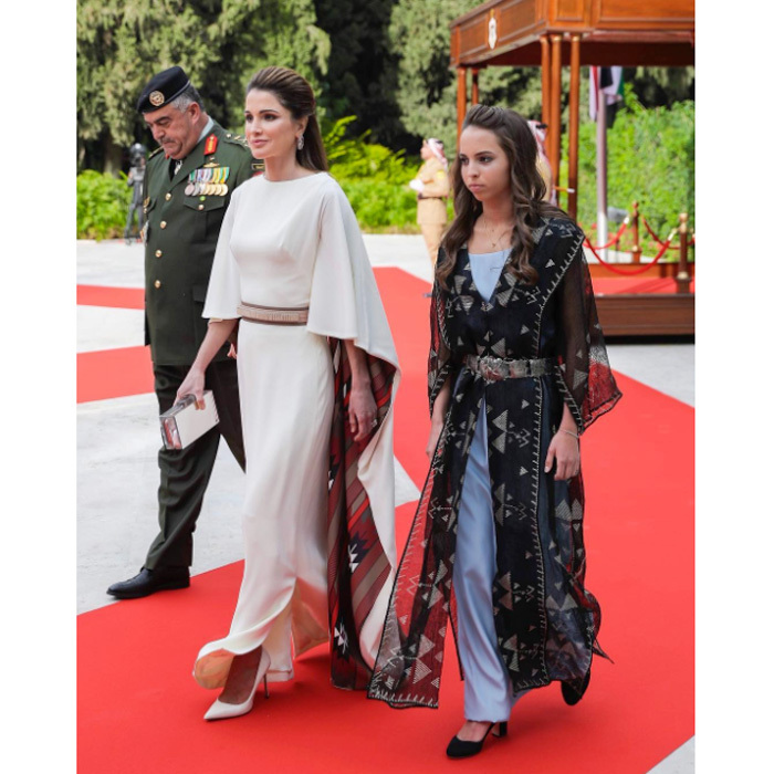 Queen Rania and her youngest daughter Princess Salma made a stylish duo as they stepped out to celebrate the 71st Anniversary of Jordan's Independence Day.