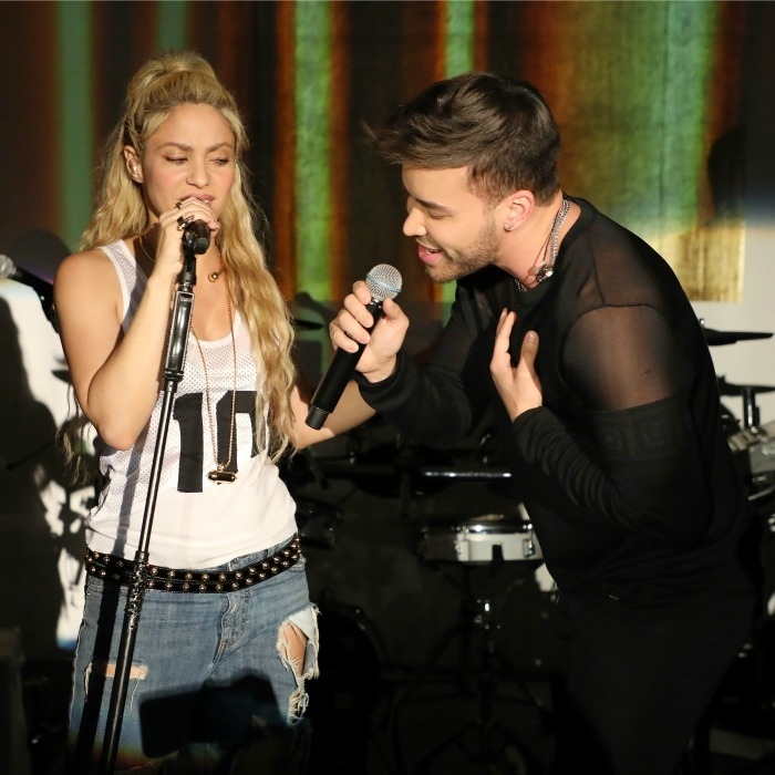 May 25: Shakira and Prince Royce teamed up for a performance of <i>Deja Vu</i> during her <i>El Dorado</i> album release party in Miami. 