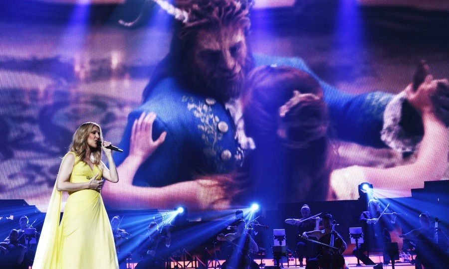 May 24: Celine Dion was a beauty on the stage as she performed <I>How Does this Moment Last Forever</i> from Disney's <i>Beauty and the Beast</i> at the Colosseum at Caesars Palace in Las Vegas. 