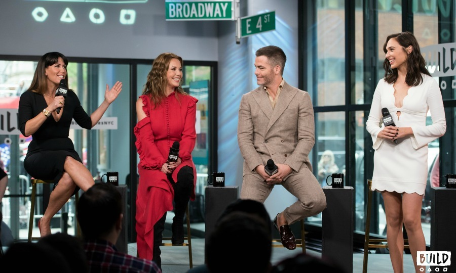 May 23: The cast of <i>Wonder Woman</i> Gal Gadot, Chris Pine and Connie Nielsen joined forces for a talk at the AOL Build Studios in NYC. 