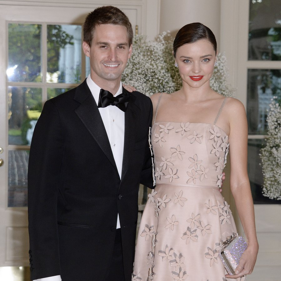<B>Miranda Kerr and Evan Spiegel</B>