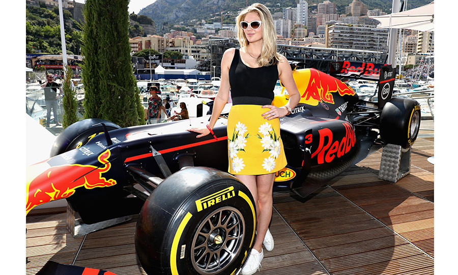 May 27: Kate Upton stopped by the Red Bull Racing Energy Station during the Monaco Formula One Grand Prix at Circuit de Monaco. 
