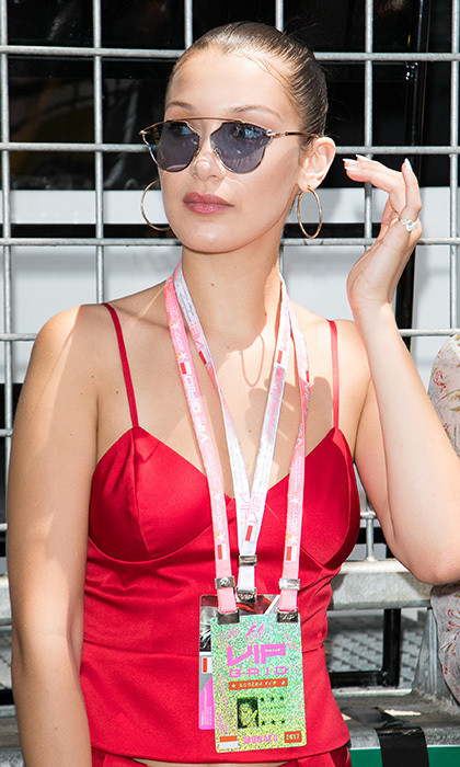 May 28: Bella, très belle! Bella Hadid had it made in the shades as she checked out the action at the F1 Monaco street circuit.