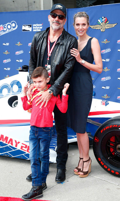 "Jeffrey Dean Morgan and Hilarie Burton brought their seven-year-old son Gus to the Indy 500 in Indianapolis on May 28, 2017. Jeffrey took to Twitter to write about their special day at the track: ""Running the pace lap... his dad driving... does Gus care? Nope. New hero at our house is @TonyKanaan too cool!! Thanks @IMS and @TeamChevy.""