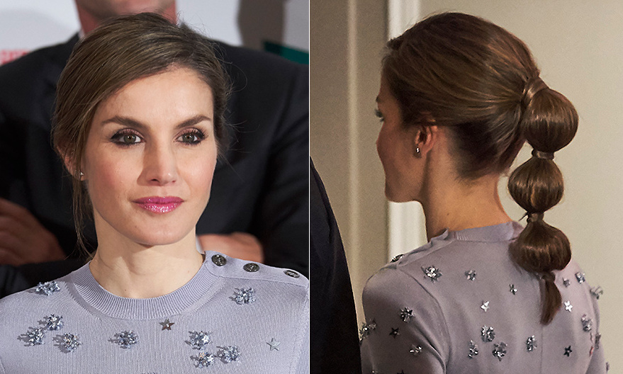 Spain's Queen Letizia is known for her up-to-the-minute style, and on May 30 she showed her latest hair twist – a bubble ponytail that she rocked for the Europa Press news agency 60th Anniversary event in Madrid. 