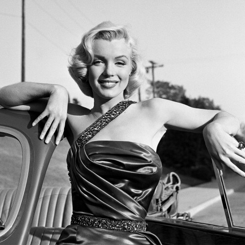 The megastar posed for this portrait on the set of 1950s classic <I>How to Marry a Millionaire.</I>