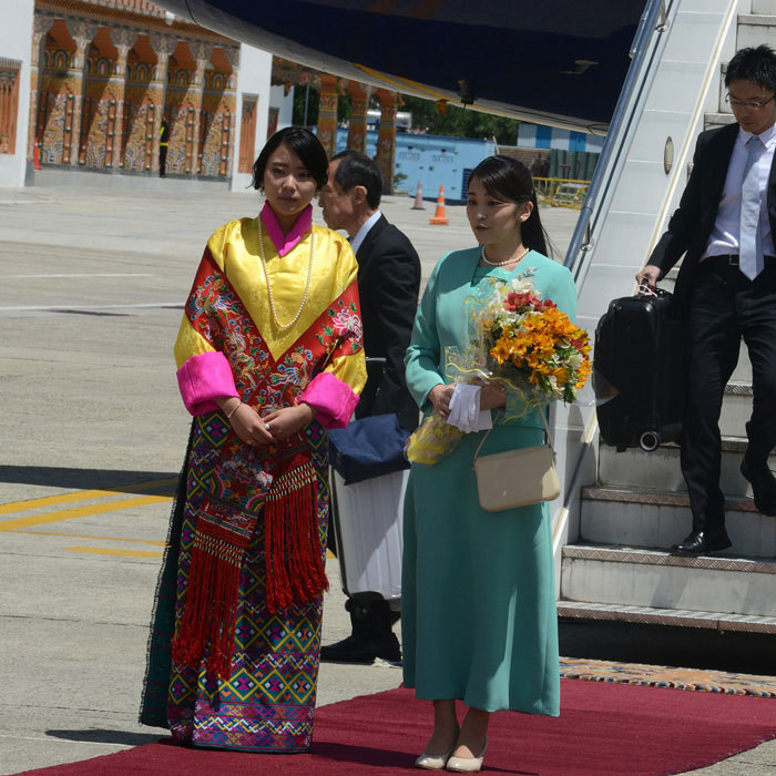 Princess Mako was welcomed by Bhutan's Princess Euphelma at Paro International Airport as the Japanese royal prepared to begin her nine-day official visit to Bhutan.