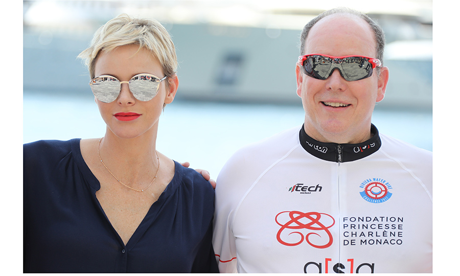 The outlook was sunny for Prince Albert II of Monaco and wife Princess Charlene of Monaco at the first Riviera Water Bike Challenge – a water bike race between Nice and Monaco – on June 4. 