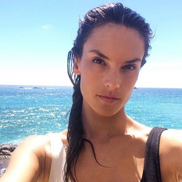 Beauty and the beach! Victoria's Secret stunner Alessandra Ambrosio shows she's just as gorgeous when in low-key vacation mode.
