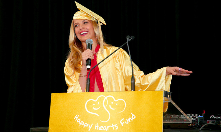 June 7: Petra Nemcova was the perfect graduate during the Graduation Gala, which raised over $2 million for the Happy Hearts Fund in NYC.
