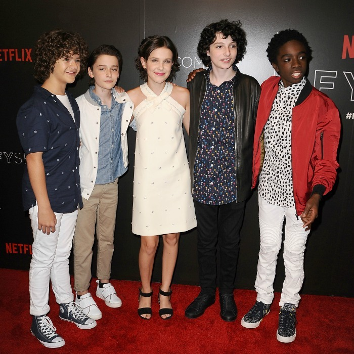 June 6: The cast of <i>Stranger Things</i> Gaten Matarazzo, Noah Schnapp, Millie Bobby Brown, Finn Wolfhard and Caleb McLaughlin attended the show's FYC event at Netflix FYSee Space in Beverly Hills. 