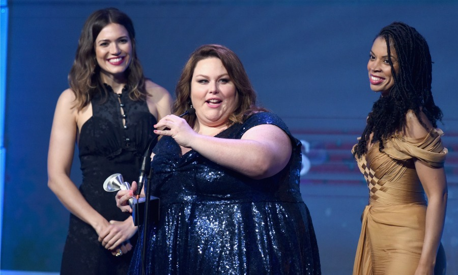 June 6: This is a moment! Mandy Moore, Chrissy Metz and Susan Kelechi Watson accepted an award onstage during the 42nd annual Gracie Awards, hosted by The Alliance for Women in Media in Beverly Hills. 