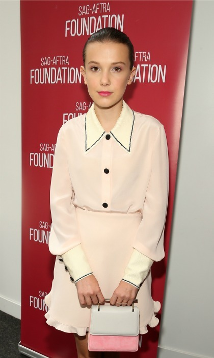 June 5: Millie Bobby Brown, who rocked a Zoe Chicco Pave Double Ear Cuff,  attended the SAG-AFTRA Foundation Conversations: <i>Stranger Things</i> in NYC. 