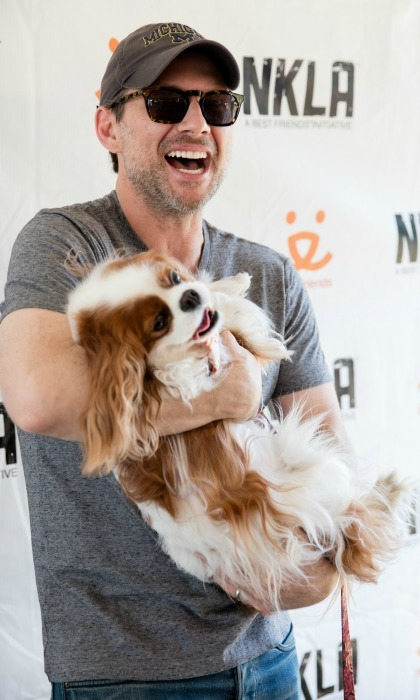 June 4: Christian Slater and his wife Brittany partnered with Best Friends Animal Society during the Super Adoption event in L.A. 