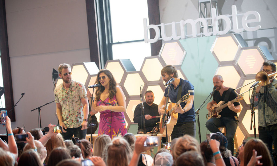 June 10: Lady Antebellum brought the sunshine and good vibes to the Bumble Bee.tique at The Bell Tower in Nashville, Tennessee where they performed some of their new hits off their album <i>HeartBreak</i>. 