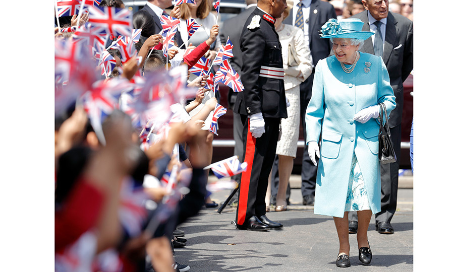 There was no shortage of young royal fans as Queen Elizabeth visited Mayflower Primary School in London on June 15. 