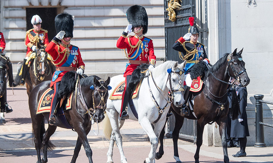 Prince Charles, Prince William and Princess Anne took part in the Trooping the Colour parade on horseback to celebrate the Queen's official birthday. All eyes were on the Duke of Cambridge riding in the annual parade, which has been running for 250 years. In 2011, William became Colonel of the Irish Guards and he certainly looked to be enjoying his role in the June event.