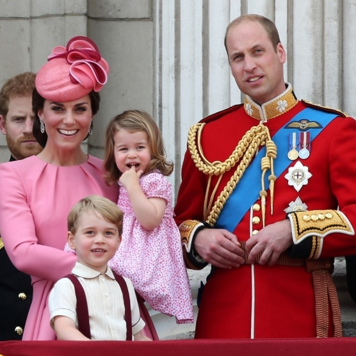 Parade! The royal family marched through London on June 17 for the annual Trooping the Colour ceremony. Kate Middleton and Prince William were a picture-perfect family at Queen Elizabeth's celebration, greeting the public on the Buckingham Palace balcony. 