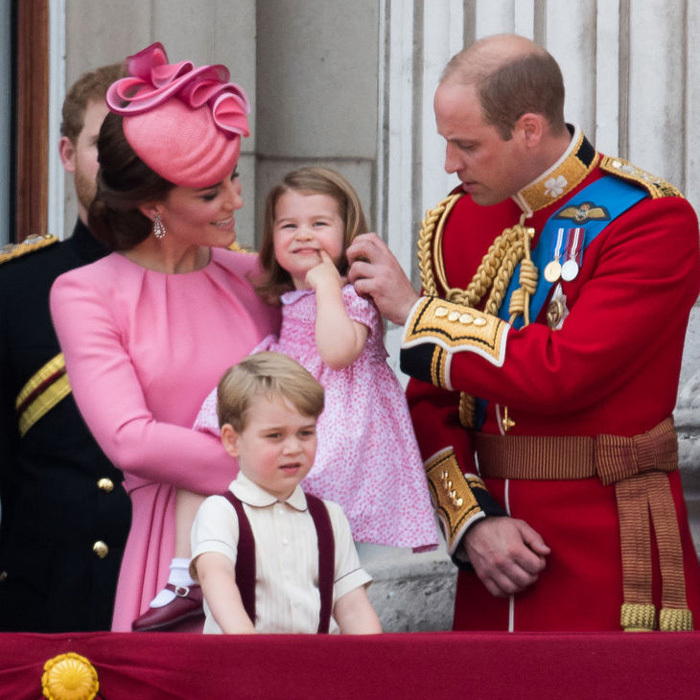 Prince William made sure his little girl was enjoying the festivities as he tucked her hair behind her ear.