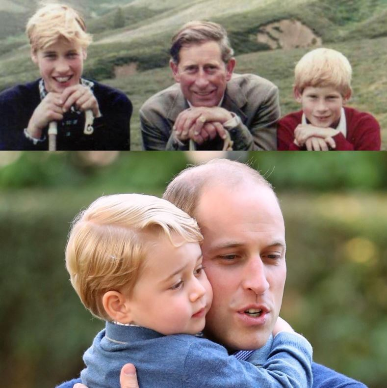 <b>Prince William and Prince Charles</b>
