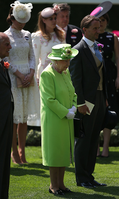 Queen Elizabeth led the royal family and other guests in a moment of silence after to honor the victims and survivors of the recent attacks and tragedies that have taken place in Britain in recent weeks. 