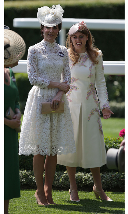 The Duchess of Cambridge was in an upbeat mood sharing plenty of laughs with the family, including her cousin-in-law Princess Beatrice. 