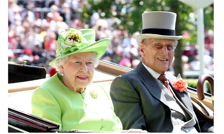 Queen Elizabeth, 91, was escorted by her 96-year-old husband Prince Philip, who recenty announced his plans to retire later this year.