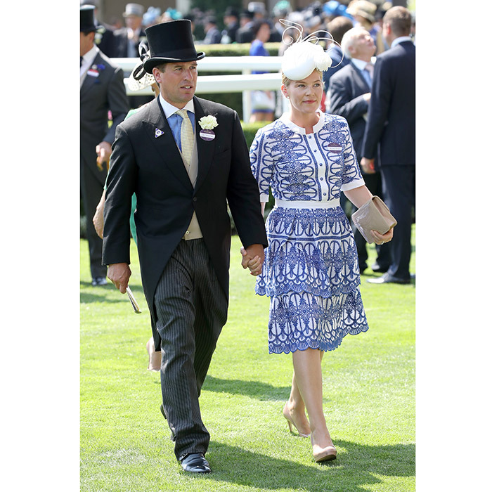 Queen Elizabeth's grandson Peter Phillips and wife Autumn, who joined their fellow royals on the Buckingham Palace balcony for Trooping the Colour on Saturday, also made an appearance together at Ascot.
