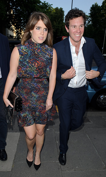 Princess Eugenie stepped out with boyfriend Jack Brooksbank for the V&A Summer party on June 21 in London.