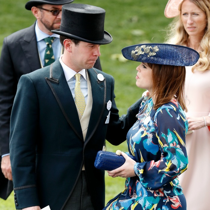 Sarah's daughter Princess Eugenie was accompanied by boyfriend Jack Brooksbank.