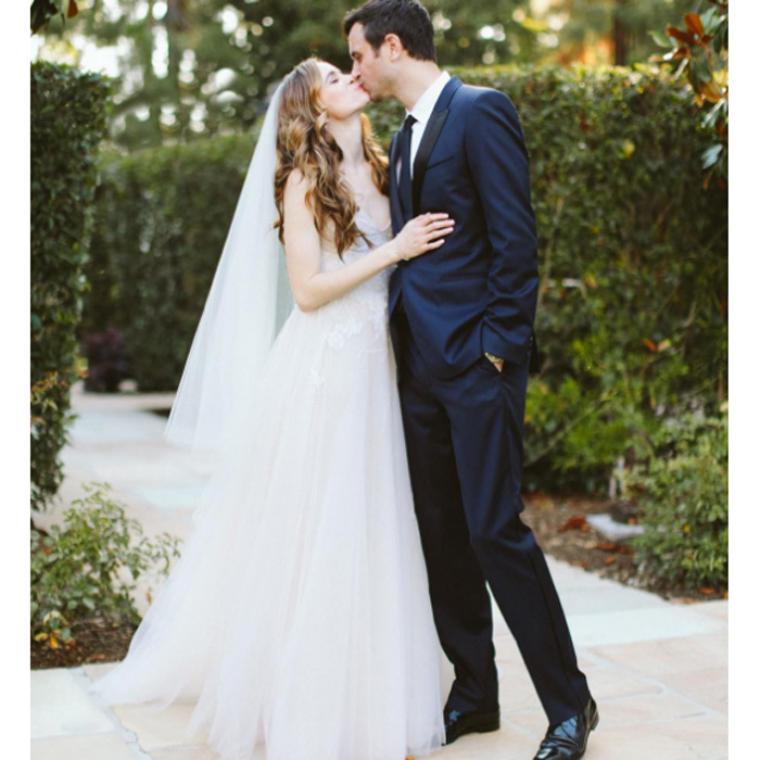 "<b>Danielle Panabaker and Hayes Robbins</b> The <i>Flash</i> actress became Mrs. Robbins in June. She posted along with a photo of the newlyweds kissing, """"6.24.17 Happiest day of my life."" The 29-year-old wore a Monique Lhuillier gown as she walked down the aisle in front of co-stars including Grant Gustin, Carlos Valdes, Tom Cavanagh and Jesse L. Martin as well as fellow CW stars Katie Cassidy and Victor Garber. Danielle and the attorney became engaged last summer in Greece. Photo: Instagram/@dpanabaker"